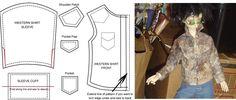 BJD - Western Shirt Pattern by AmethystArmor