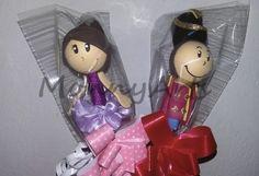 Ponteira de lápis: Bailarina e Soldadinho de Chumbo.