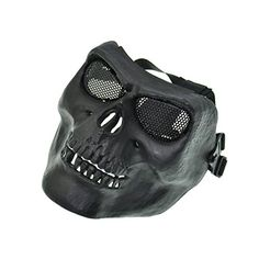 Black Army Skull Skeleton Airsoft Paintball Bb Gun Game Face Mask ** Check out the image by visiting the link.