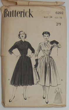 Butterick pattern 6292, from 1952