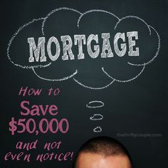 How to save an average of $50k on a mortgage and hardly notice. This is such a great idea for anyone that does have a mortgage. Everyone with a mortgage should be doing this because it is easy, no-brainer and your budget will hardly notice. In fact, when we started doing this, it was actually better for our budget. So we DID NOTICE, but it worked out EVEN BETTER and now we are saving THOUSANDS! Are you doing this yet?