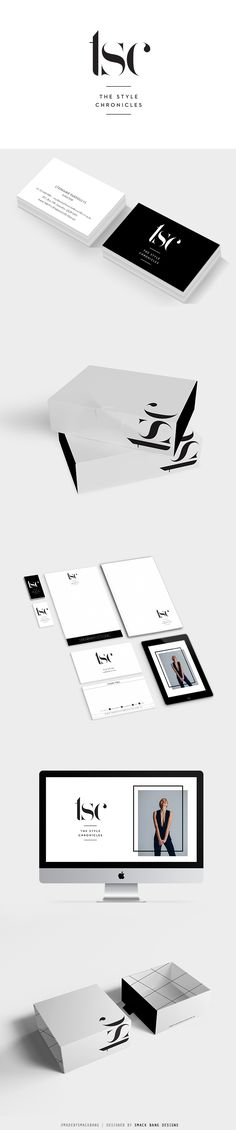 The Style Chronicles branding and packaging by Smack Bang Designs