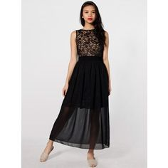 MADEMOD | Chiffon Full Length Skirt | American Apparel | $46.00