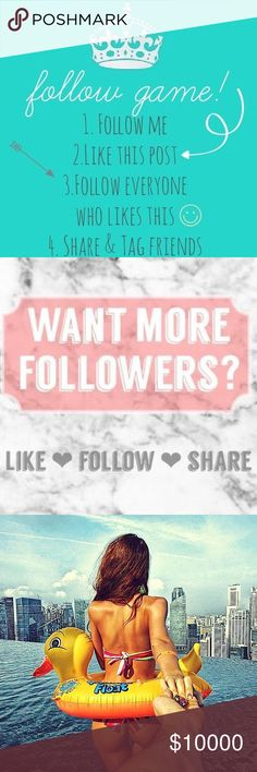 LIKE✔️SHARE ✔️TAG ✔️GROW 💕 Let's grow together and help me reach 10K, I will follow back and share the posh love 💜🤗💕 Dresses