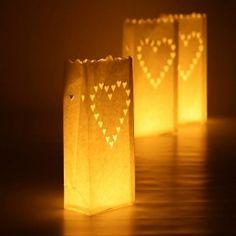 Kinesisk lyspose hjerte 10 stk