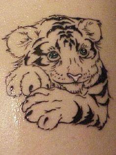 Tiger Tattoo Designs of Tiger Tattoo Small, Mens Tiger Tattoo, White Tiger Tattoo, Tiger Tattoo Design, Henna Tattoo Designs, White Tattoos, Tattoo Black, Small Tattoo, Badass Tattoos