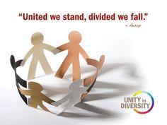 United We Stand Poster & Banner - iCelebrateDiversity.com