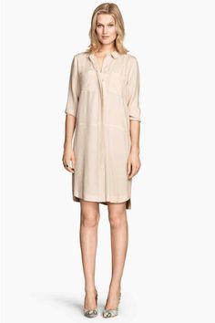 Vestido camiseiro em crepe | H&M