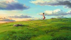 "ghibli-collector: "" A Journey Across Earthsea - Art Director Yôji Takeshige (Studio Ghibli's Tales From Earthsea "" Studio Ghibli Art, Studio Ghibli Movies, Tales From Earthsea, Studio Ghibli Background, Environment Painting, Anime Backgrounds Wallpapers, Hayao Miyazaki, Fantasy Landscape, Anime Scenery"