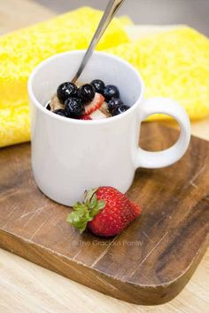 Clean Eating Dorm Room Pancakes   flour, cinnamon, baking soda, vanilla extract, egg, milk, oil