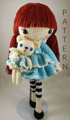 ATTENTION - Keep in mind that this is a crochet pattern in a PDF. This is NOT the finished product.  January is approximately 15 inches tall. Also, please keep in mind that this doll cannot stand up on its own.  This is a non-refundable purchase. Once the payment has been confirmed you will be allowed to download the pattern in a PDF. The language in the pattern is in English only. The pattern includes all of the yarns colors I used for the doll, however, you are free to experiment and use…