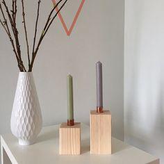 Kerzenständer aus Holz, skandinavisches Design, Wohnaccessoires / wooden candle stands, scandinavian design home decor made by nube_hamburg via DaWanda.com