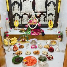 Temple Room, Home Temple, Diwali Decorations, Festival Decorations, Silver Pooja Items, Mandir Design, Ganapati Decoration, Pooja Mandir, Pooja Room Door Design