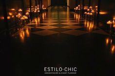 Ambientación para boda con velas