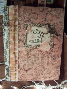 "Journal using SU DSP ""Soho Subway"", Crepe Paper 'ruffle', Papaya Collage and Feel Goods stamp sets. Karen Collins, Stampin Up! Demonstrator."