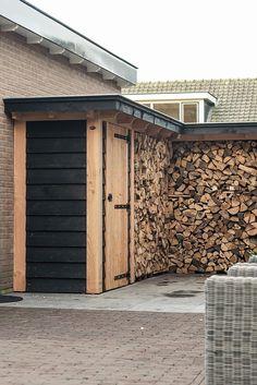 Houthok met berging. Gemaakt door Buitenpracht stijlvolle houtbouw uit Barneveld. www.buitenpracht-houtbouw.nl