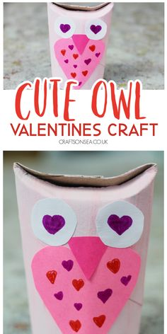 Make this cute and easy Valentines craft for kids out of a cardboard roll. Valentine's Day Crafts For Kids, Halloween Crafts For Kids, Art For Kids, Kid Art, Kid Crafts, Valentine Crafts For Kids, Valentines, Ancient Egypt Crafts, Valentine's Day