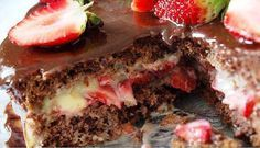 Bolo de chocolate recheio de beijinho e morangos - Amando Cozinhar - Receitas, dicas de culinária, decoração e muito mais!