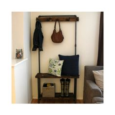 Need something for your entry way that wont break the bank AND will last for years and years and years? Our entry way hall tree is just the thing! Includes a bench and a bottom shelf, 12 deep. Perfect place to park your bum while putting on your shoes! **SIZES** Available in 3 sizes to meet your needs: -Small: 36 wide x 12 deep x 73 tall -Medium: 44 wide x 12 deep x 73 tall -Large: 56 wide x 12 deep x 73 tall 18 clearance between bottom shelf and bench gives you plenty of space for boots and…