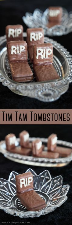 Tim Tam Tombstones - Easy Halloween Food Ideas. #Halloween #Food #ShermanFinancialGroup