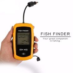 Portable Fish Finder Depth Sonar Sounder Alarm Transducer