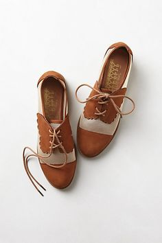 Mesh Owen Oxfords #anthropologie    Super cute saddle shoe look-a-like for grown ups!