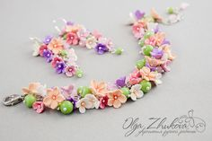 Set with flowers from polymer clay by polyflowers by Olga Zhukov on DeviantArt