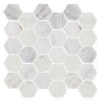 Hampton Hex Tumbled Marble