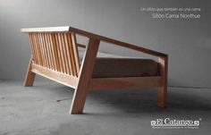 Umomoku: A Comfortable Outdoor Furniture Collection Designed for Lounging – Design Milk - Unique Wood Furniture, Furniture Plans, Diy Furniture, Furniture Design, Outdoor Furniture, Garden Furniture, Wooden Couch, Wood Sofa, Lounge Design