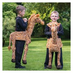 Deluxe Ride On Giraffe fancy dress Boys Girls Lion King Costume One Size 3-9 years Christmas Play