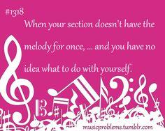 Hahahaha! As a soprano and flutist...YES!