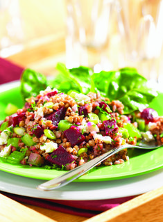 Kasha and Beet Salad with Celery and Feta | Oldways