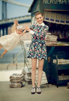 Love is Speed  ~ Bonjour, Brooklyn : Why New Yorkers Are Flocking to the Borough ?.. _by Boo George for Vogue August 2013 *_Sasha Pivovarova ~ The Russian beauty reclaims her throne with two cooler than campaings and three Vogue appearances.