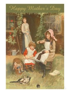 Happy Mother's Day, Peaceful Domestic Scene Art at AllPosters.com