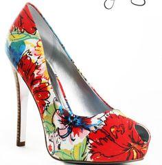 Jessica Simpson floral peep toe