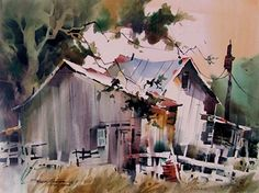Behind the House by sterling edwards Watercolor ~ 22 x 30