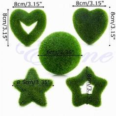 [ 24% OFF ] Artificial Simulation Fresh Moss Balls Decor Green Plant Home Party Decoration
