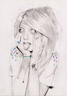 Saatchi Online Artist: Adrien Patout; Pencil, 2012, Drawing Alice in Wonderland