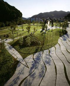Saiki Peace Memorial Park in Japan by Earthscape
