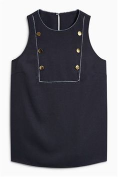 Buy Sleeveless Military Top online today at Next: United States of America