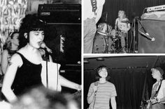 Bikini Kill - singer-songwriter Kathleen Hanna, the drummer Tobi Vail, and Hanna with the bassist Kathi Wilcox. — from the pages of T.