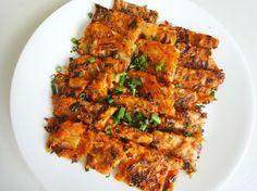 Delicious Kimchi pancake 김치전 (Kimchijeon)