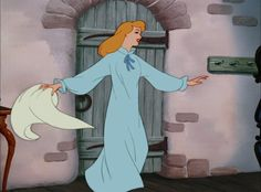 Images of Cinderella in motion picture and television productions.