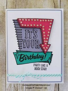 Marquee Markers Stamp set available June 1st, Stampin' Up!