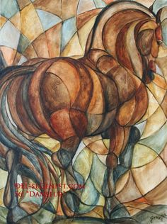 Elise Genest - I wonder if I could do this in stained glass. Horse Artwork, Animal Paintings, Horse Paintings, Horse Drawings, Wow Art, Equine Art, Painting & Drawing, Art Projects, Abstract Art