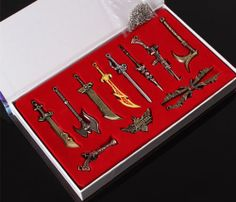 11pcs LOL League of Legends Characters Weapons Keychain Collection in Box Free | eBay