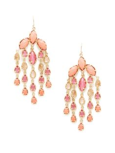 Freesia Fig Chandelier Earrings by Kendra Scott Jewelry at Gilt