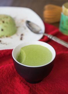 Matcha Green Tea Flan