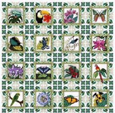 Rainforest Quilt by Chatelaine - $496.85 for the pattern and kit