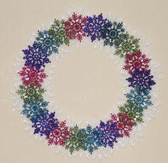 Winter Snowflake Wreath  Large Front Door by GlitterGlassAndSass